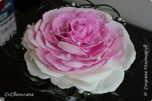 Флористика искусственная Свадьба Моделирование конструирование Мой первый свадебный букет Розамелия Фоамиран фом фото 1
