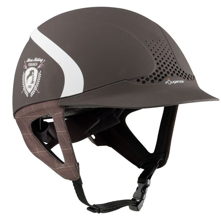 £19.99 - Horse Riding Hats and Caps - Safety Jump Helmet - Brown - FOUGANZA