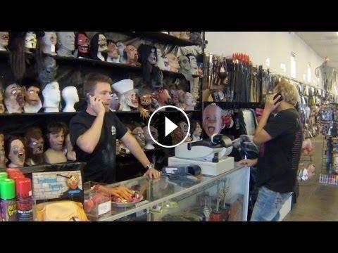 Ellen's Writer Adam Pranks Customers At Halloween Costume Store #HiddenCameraPranks  #funny #prank