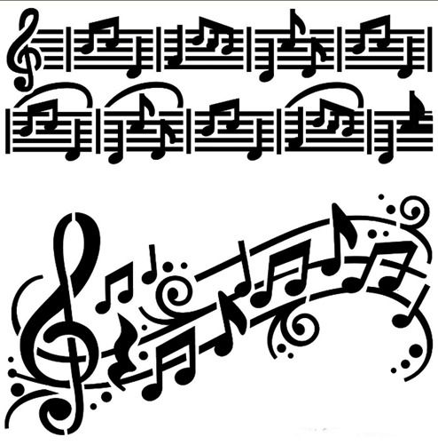 MUSIC NOTES MYLAR STENCIL CRAFT HOME DECOR PAINTING WALL ART 125//190 MICRON