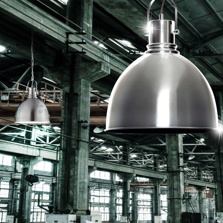 New Metall Fabrik Look Lampe Loft Beleuchtung H nge Pendel Decken Leuchte LED Watt Lampen Pinterest Loft and LED