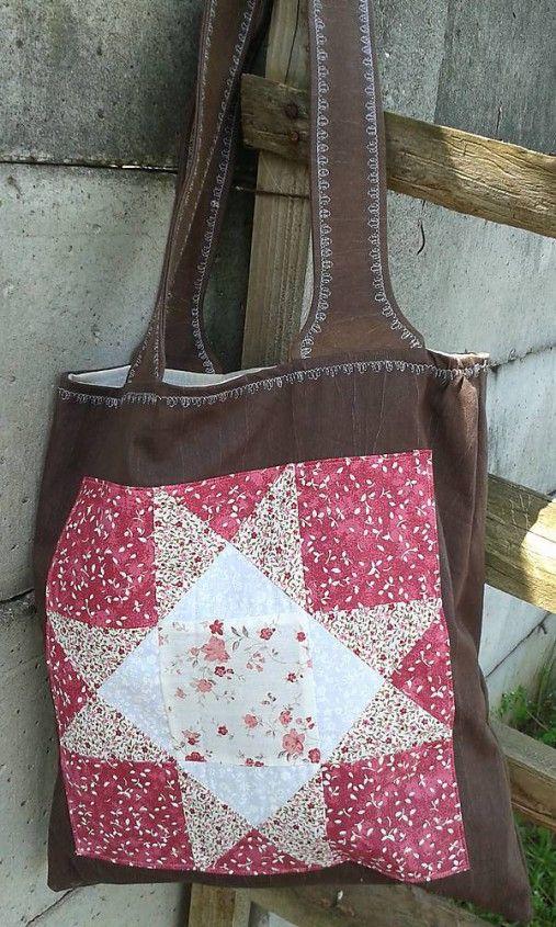 lienka97 / Nákupná taška s patchworkovou aplikáciou 2