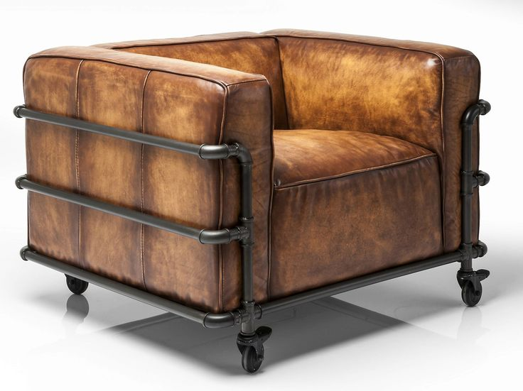 Download the catalogue and request prices of Quattro By kare-design, leather armchair with armrests with casters