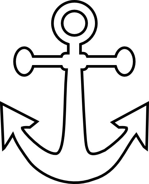 Small Anchor Outline clip art