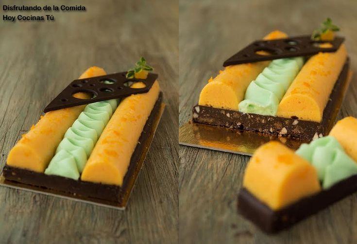 Hoy Cocinas Tú: Crema de mandarina y anís con ganache montada de chocolate blanco y wasabi