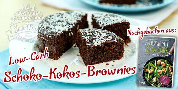 Low-Carb Schoko-Kokos-Brownies sind mit wenig Aufwand schnell gezaubert. Allerdings dauert es auch nicht lange bis die kleinen Schokowunder verputzt sind.