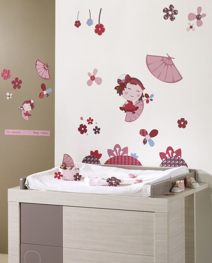 des stickers muraux hana pour compl ter la d coration de la chambre de b b d coration. Black Bedroom Furniture Sets. Home Design Ideas