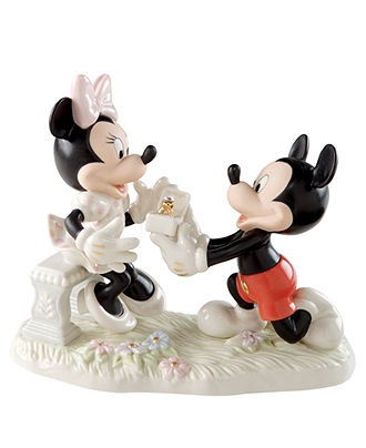 Lenox Collectible Disney Figurine, Mickey Mouse and Friends Minnies Dream Proposal