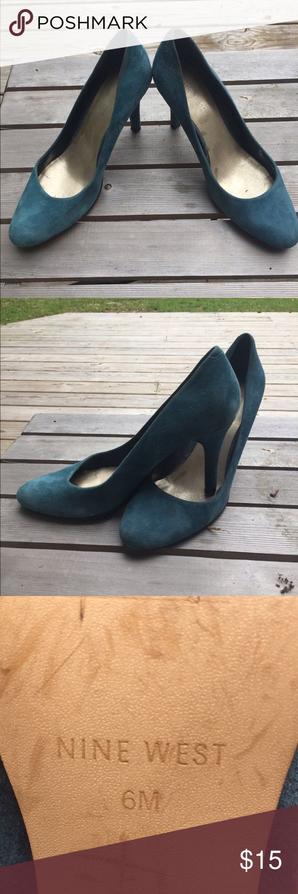 Don't Step on my Blue Suede Shoes... Pumps! Nine West Blue Suede pumps - size 6 - good condition. Nine West Shoes Heels