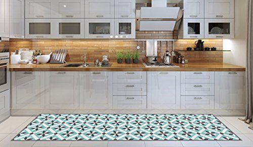 Tappeto cucina lavabile in lavatrice, passatoia cucina, 52cm x 240cm, anti acaro, retro antiscivolo, tappeto da cucina fantasia nido d'ape,100% made in Italy, passatoia da cucina con stampa digitale