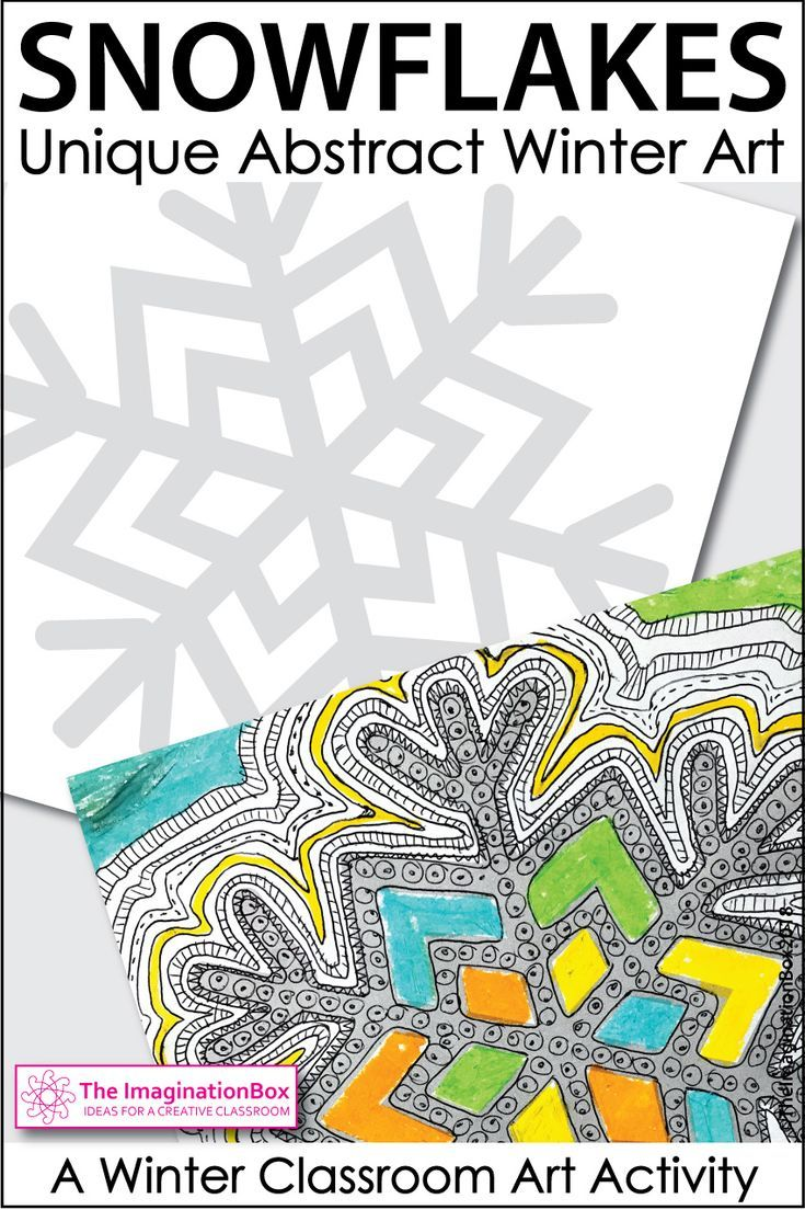Winter Coloring Pages - Snowflake Art Activity | middle