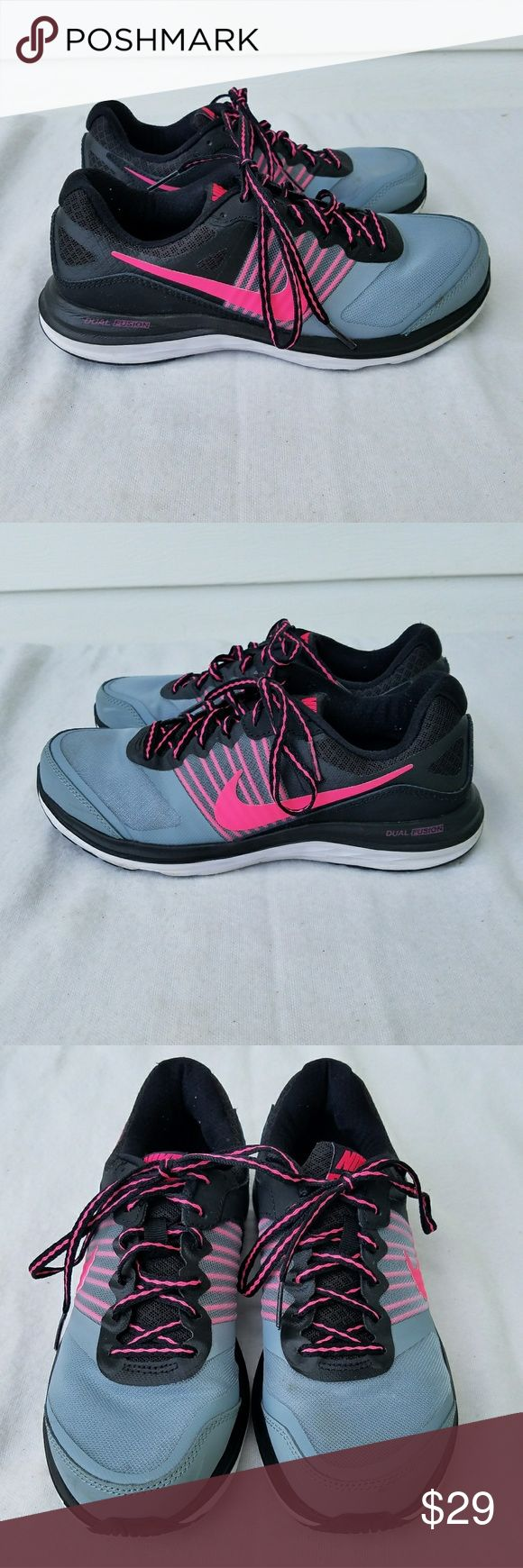 Nike Dual Fusion X running shoes Size 6.5. Great condition. Minor wear on soles. Nike Shoes Athletic Shoes