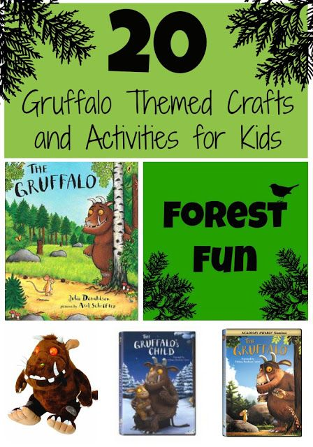 20 Gruffalo Themed Crafts and Activities for Kids