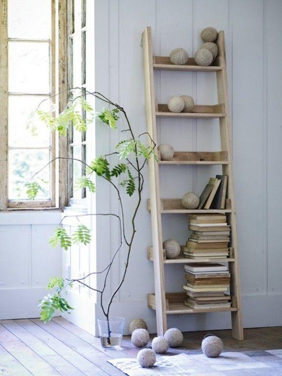 Interieurtrends   De decoratieve houten ladder • Stijlvol Styling - WoonblogStijlvol Styling – Woonblog