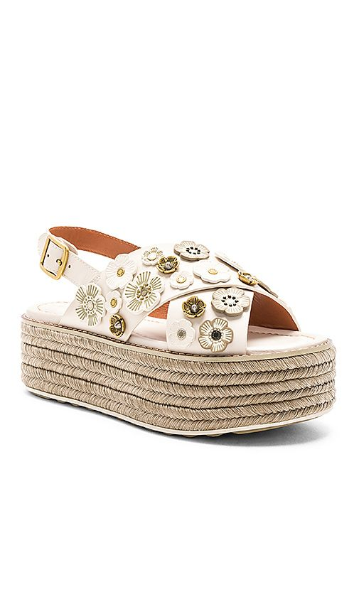 7929fa933f80 Shop for Coach 1941 Tea Rose Espadrille Sandal in Chalk at REVOLVE. Free  2-3 day shipping and returns