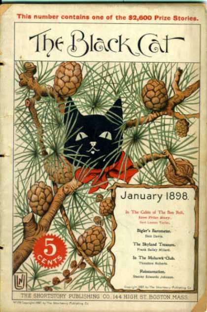 Black Cat (Magazine) Cover - January 1898