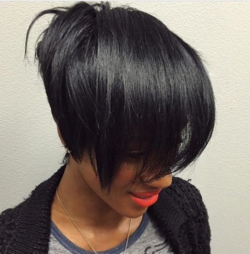 60 Showiest Bob Haircuts for Black Women | Stacked bobs