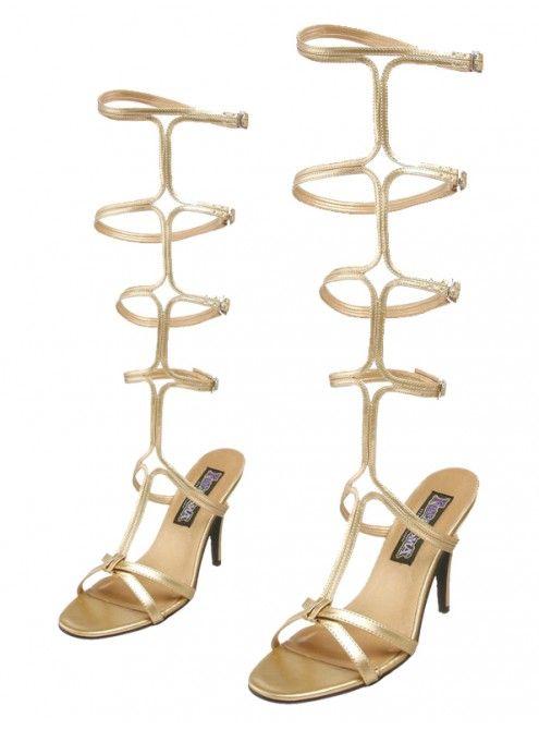 Chaussures Pleaser - Sandales spartiates dorées à talon  #chaussures #sandale #spartiate #HautTalon #PleaserUSA #Paris #foxyladyparis