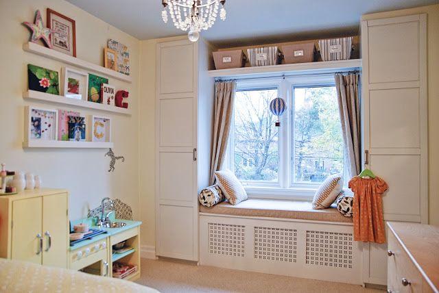 Rambling Renovators: No Longer A Nursery   IKEA buil-in banquette over radiator