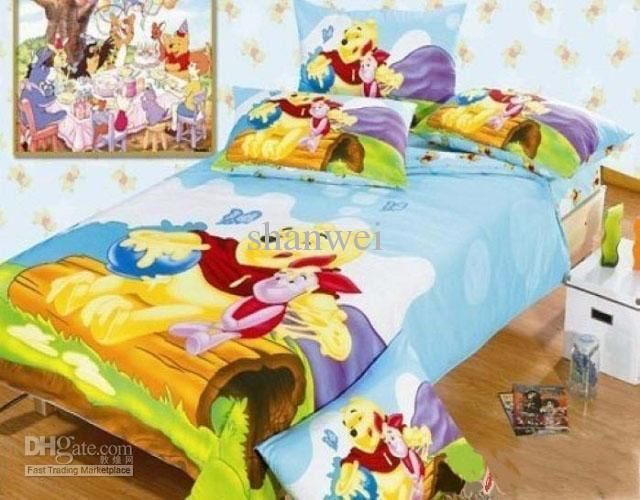 Wholesale Cartoon 4PC set Winnie the pooh Children's Queen bedding set 100% cotton kids boys bedspread, Free shipping, $74.2-97.99/Set | DHgate                                                 youtube downloader