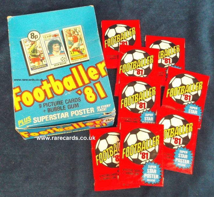 Topps (formerly A&BC Gum) footballer gum cards box and packets from 1980/81. #A&BC Gum
