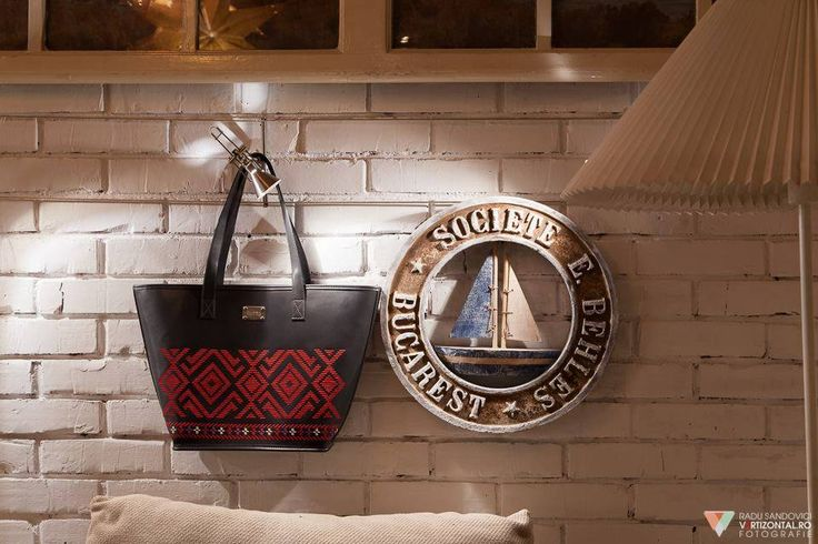 """Black leather with red embroidery """"Lust"""" tote from the Longind to Belong collection. The symbols speak of passion, energy and the modern woman. #designer #designerbag #leathergoods #embroidery #traditional"""