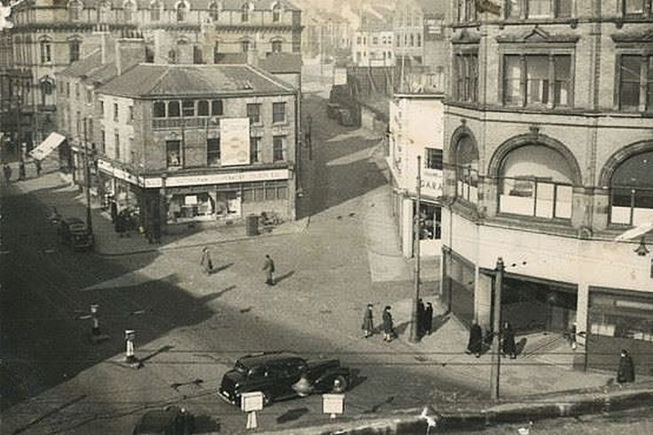 Derby Road and Parliament Street, Nottingham, c1940s.