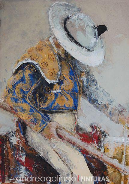 Andrea Galindo. Pintura: OBRA GANADORA DEL CONCURSO DE CARTELES TAURINOS TA...