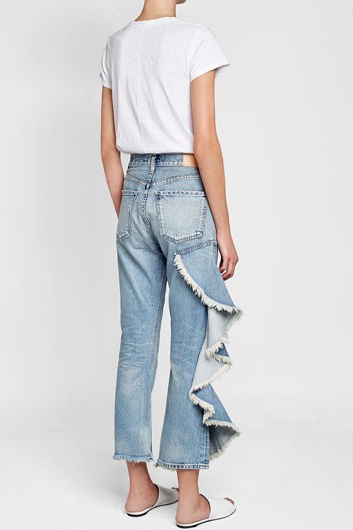 Cropped Jeans with Ruffle Trim  | Citizens of Humanity
