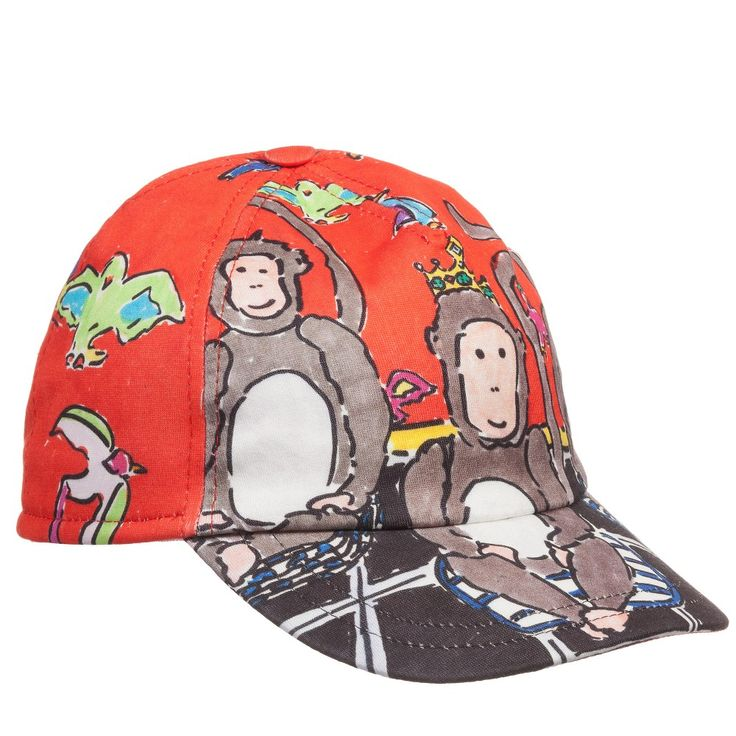 Dolce & Gabbana Boys Three Wise Monkeys Cap at Childrensalon.com