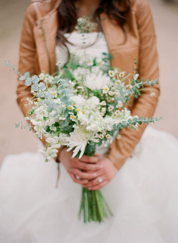 soft greens + whites in this bridal bouquet // photo by Cassidy Brooke