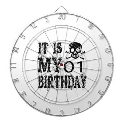 #It Is My 01 Birthday Designs Dartboard - #giftidea #gift #present #idea #one #first #bday #birthday #1stbirthday #party #1st
