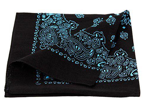 Bandana de qualité supérieure 100% coton, environ 54 x 54 cm foulard zandana écharpe accessoire vêtement vacances d'été printemps, ballade…