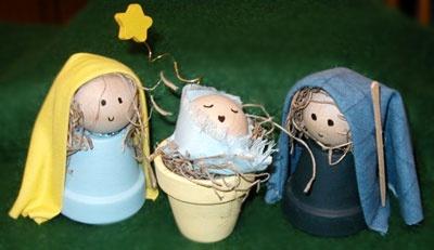 christmas craft: Manualidades Niño, Christmas Crafts, Christmas Crafts, Flowers Pots, For Christmas, Para Niño, Christmas, Clay Pots, Crafts