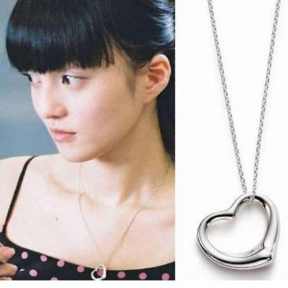 European and American fashion jewelry hollow peach heart pendant necklace for women jewelry