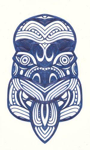 maori tiki drawing - Google Search
