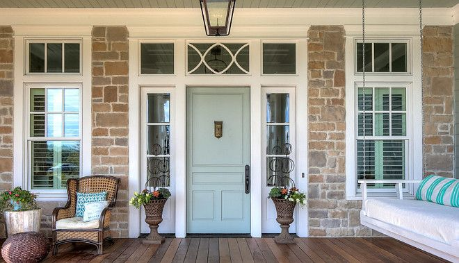 Sherwin Williams Sea Salt Door. Front door painted in Sherwin Williams Sea Salt…