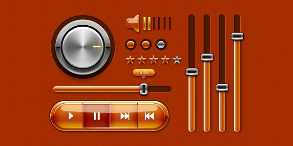 If you design music apps, this Music UI Kit might be just the what you need to rock on