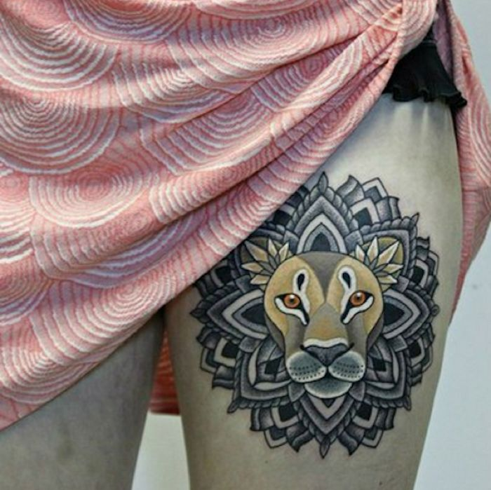 25+ Best Lion Thigh Tattoo Ideas On Pinterest