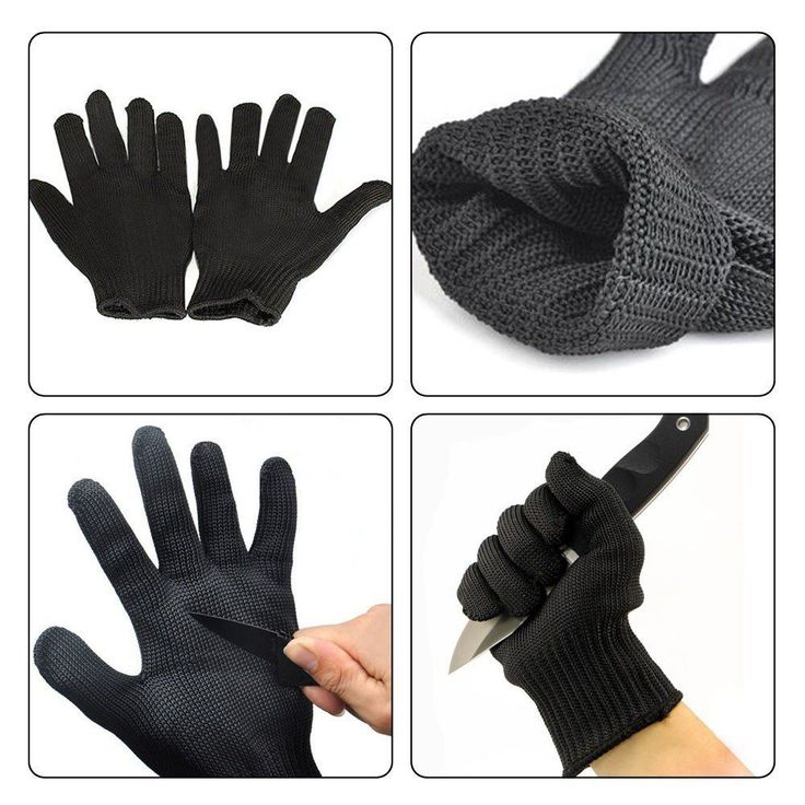 1 Pair kevlar Gloves Proof Protect Stainless Steel Wire Safety Gloves Cut Metal Mesh Butcher Anti-cutting breathable Travel Kit #survivalclothing