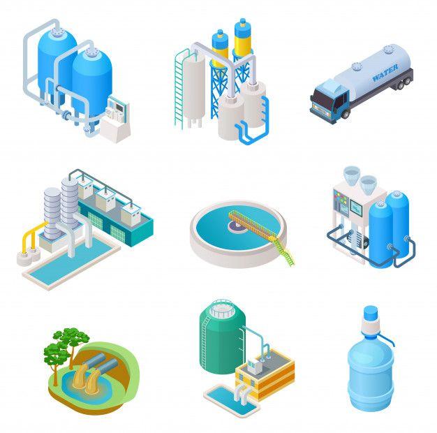 Tecnología De Purificación De Agua Sist Premium Vector Freepik Vector Agua Purificacion De Agua Aguas Residuales Vector
