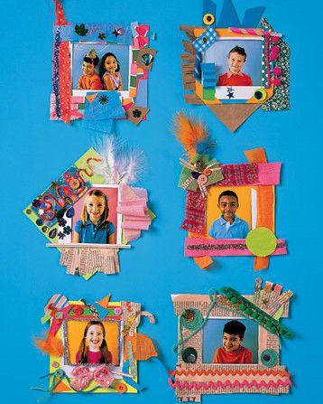 Marcos para fotos hechos por niños
