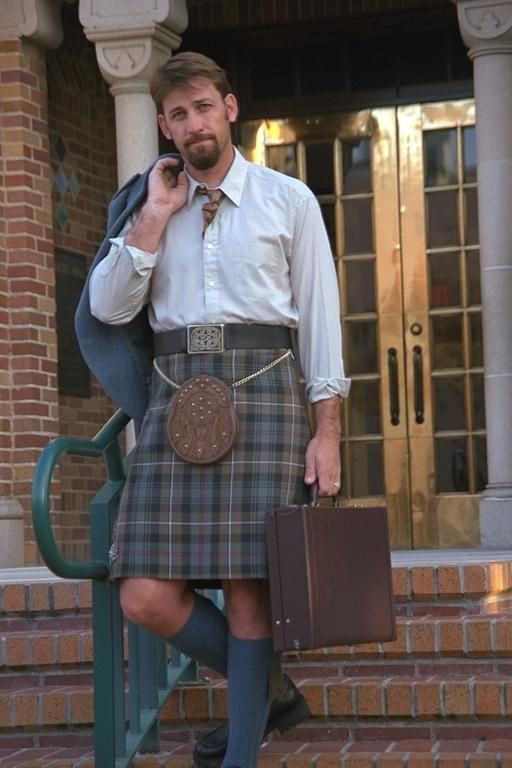 Going to work in a kilt