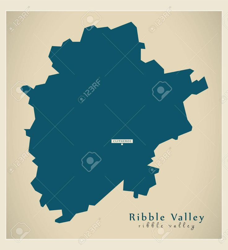 Modern Map Ribble Valley District Of Lancashire England Uk Illustration Ad Ribble Valley Modern Map District Cover Template Modern Map Map