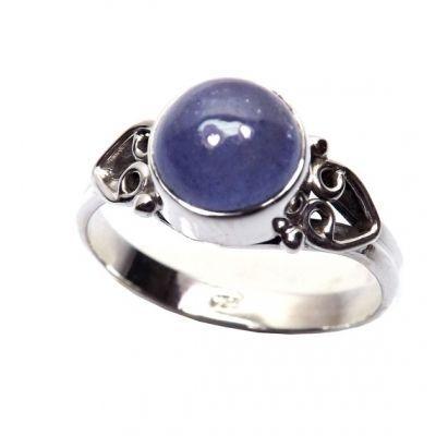 Cocktail Ring, Statement Ring, Bezel Ring, Tanzanite Ring,Blue Ring, Angel Wing Ring