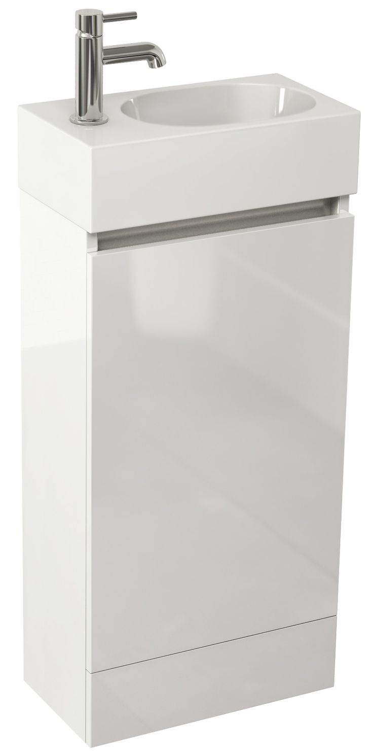 Pura Echo 400mm White Gloss Single Door Floor Standing Unit And Basin