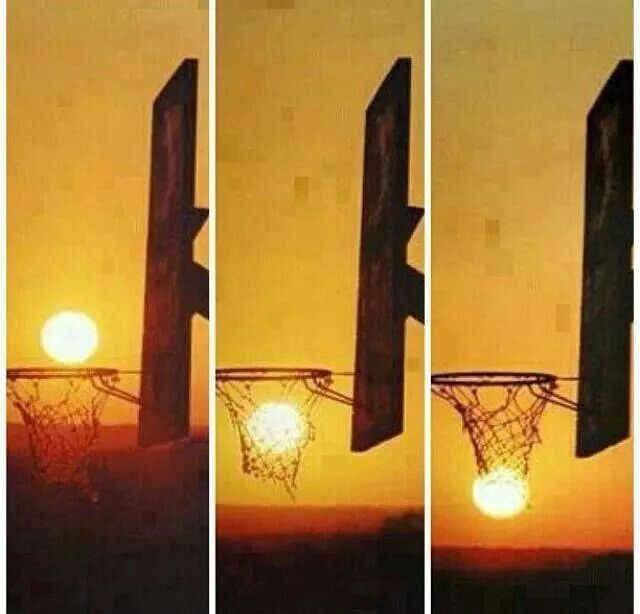This would be cute with silhouette ball player looking like he took the shot