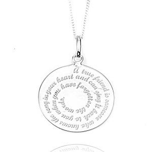 90 best engraved necklaces for her images on pinterest a true friend sterling silver pendant mozeypictures Choice Image