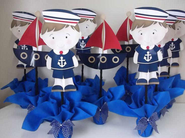 centro de mesa menino marinheiro
