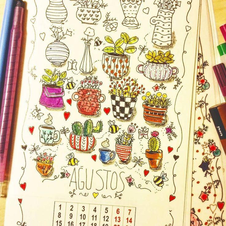 Çok zevkle çizdiğim bir sayfaydı  boyamaksa daha da zevkli oldu zaten Ağustos hep güzeldir  Takviminizi boyarken #2016takvimiboyuyorum hashtagini eklemeyi unutmayın!! #2016takvimiboyuyorum #kaktus #succulent #illustration #artist #nature #project #happyday #home #homedecor #country #boyama #2016 #calendar #takvim #smileeveryday #colorsoflife #coloringcalendar #coloringbook #gamzetavukcuoglu by gamzetavukcuoglu